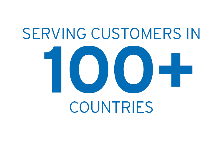 Serving customers in over 100 countries