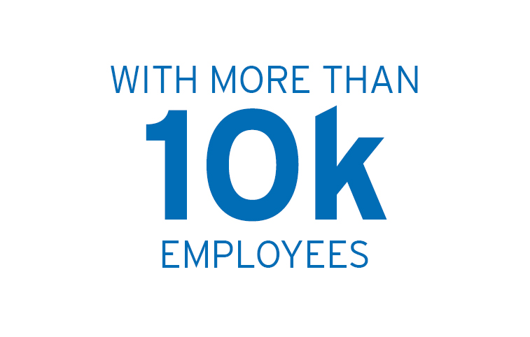 with more than 10k employees